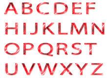 Alphabet en verre rouge Photo stock