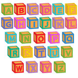 Alphabet english blocks Stock Photos