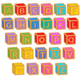 Alphabet english colorful blocks Royalty Free Stock Photography