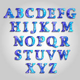 Alphabet. This is the English alphabet with the image of a world map and letters Stock Photography