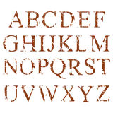 Alphabet. English letters set. Grunge alphabet. Dirty painted english letters set. Vector illustration Royalty Free Stock Image