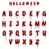 Alphabet ensanglanté i de Halloween illustration de vecteur