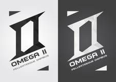 Alphabet et icône d'O Omega Créatif fort et pointu Images stock