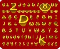 Alphabet et numéro du vecteur 3D Photo libre de droits