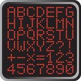 Alphabet et numéros Images libres de droits