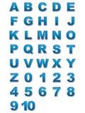 Alphabet et numéros Image stock
