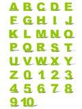 Alphabet et numéros Photographie stock
