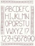 Alphabet in ethnic style Stock Photos