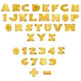 Alphabet für einen Imbiß Stockbilder