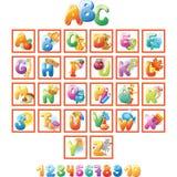 Alphabet für Kinder mit Bildern Stockbilder