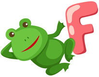 Alphabet  F for frog Royalty Free Stock Images