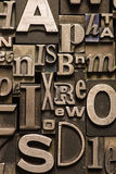 Alphabet fait au hasard Photo stock