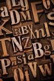 Alphabet fait au hasard Photo libre de droits