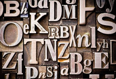 Alphabet fait au hasard Photos stock