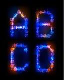 Alphabet fait de bulles au néon Photographie stock libre de droits