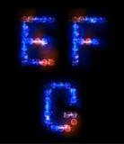 Alphabet fait de bulles au néon Photo libre de droits