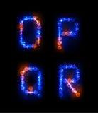 Alphabet fait de bulles au néon Images stock