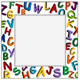 Alphabet-Feld auf dem weißen Hintergrund Lizenzfreie Stockfotografie