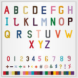 Alphabet, figure and symbol icon set Royalty Free Stock Photos
