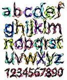 Alphabet and figures, cartoon. Monster alphabet and figures, cartoon illustration Stock Photography