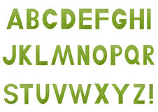 Alphabet with a filling picture from a grass Royalty Free Stock Image