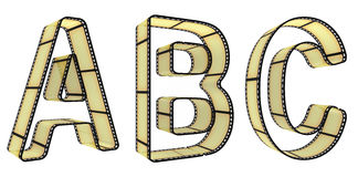 The alphabet from a film Royalty Free Stock Image