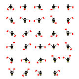 Alphabet - flag semaphore system. Vector alphabet icon Stock Images