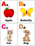 Alphabet flashcards Royalty Free Stock Photos