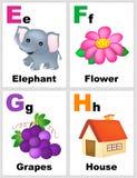 Alphabet flashcards Stock Photography