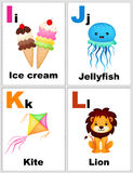 Alphabet flashcards Stock Photos