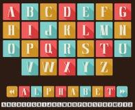 Alphabet Flat Design Style Stock Image