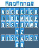 Alphabet flat font template royalty free illustration