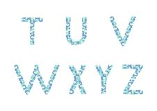 Alphabet floral images stock