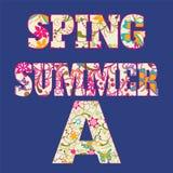 Alphabet floral d'été de ressort - illustration Image libre de droits