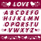 Alphabet Floral Designs Stock Photography