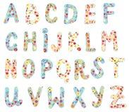 Alphabet floral set Royalty Free Stock Photos