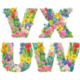 Alphabet of flowers VXUW Stock Photos