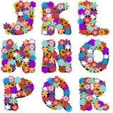 Alphabet with flowers on white background Royalty Free Stock Image