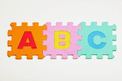 Alphabet Foam Pieces Royalty Free Stock Images
