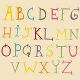 Alphabet fol illustration stock