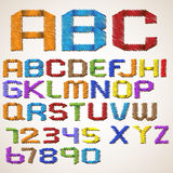 Alphabet folded scribble tape Royalty Free Stock Image