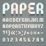 Alphabet folded of toilet paper Royalty Free Stock Image