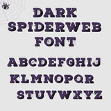Alphabet foncé de toile d'araignée Concept de Veille de la toussaint illustration libre de droits