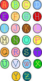 Alphabet font Royalty Free Stock Photo
