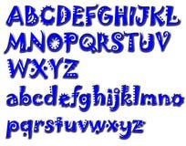 Alphabet font Royalty Free Stock Photos