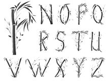 Alphabet font in asian style. Stock Images