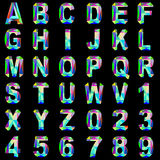 Of alphabet font gem and colored glass Stock Photos