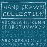 Alphabet font line - Vector illustration Royalty Free Stock Image