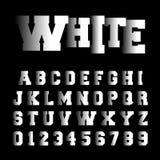 Alphabet font template. Set of letters and numbers hidden design. Vector illustration Royalty Free Illustration