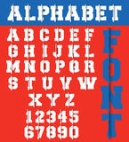 Alphabet font template. Letters and numbers ripped paper design. Vector illustration Vector Illustration